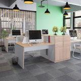 Estação de trabalho da mesa de escritório da mobília de escritório para a pessoa dois com gabinete