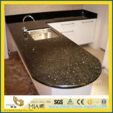 KitchenまたはBathroomのための卸し売りNatural Stone Black Galaxy Laminate Granite Countertops