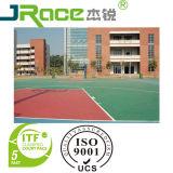 Revêtement extérieur de surface de sport de terrain de basket de couleur simple