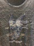 La maglietta della stampa di Geo della tintura del legame bianco nello sport dell'uomo copre Fw-8654