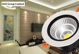 MAZORCA de aluminio Downlight ahuecado LED de la cubierta 30W con talla del orificio de 140m m