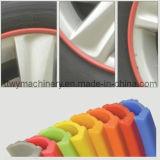 Cadena de producción protectora del anillo del eje de rueda de coche del PE/línea de la protuberancia/máquina Twp32 del estirador