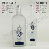 Frascos de vidro geados vazios por atacado da bebida do licor do vinho para a venda