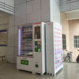 Máquinas de venda automática de bebidas e lanches com leitor de contas e trocador de moedas