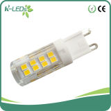 Bulbos Dimmable 51SMD2835 3000k/4000k/6000k do Bi-Pin do diodo emissor de luz G9