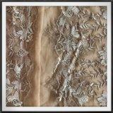 Laço de nylon do bordado de Tulle do laço do bordado do engranzamento do laço do bordado da flor