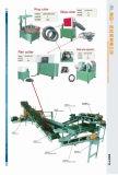Heißer Verkaufs-Gummireifen, der die Maschine/verwendeten Gummireifen aufbereitet die Plant/Rubber Fliese bildet Zeile aufbereitet