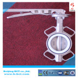 Válvula de borboleta cheia de revestimento da anticorrosão de PTFE com punho Bct-F4bfv-20