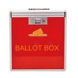 Caixa vermelha portátil de alumínio do voto de cédula com tamanho médio do fechamento