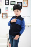 1/4 Zipper Raccord coulé Contraste Colored Boys Sweater Stock