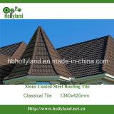 Tipo clássico telha de telhado revestida do metal da pedra