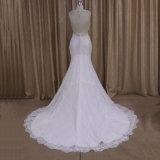 Robe de mariage perlée sans manche de sirène (XF1009A)