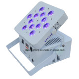 La radio con pilas DMX LED enciende RGBWA+UV