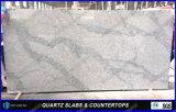 Cores artificiais das bancadas da cozinha da decoração de Calacatta da pedra de quartzo