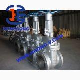 Válvula de puerta industrial del borde del acero inoxidable del volante de dirección de ANSI/API/DIN