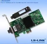 Cartão de relação portuário da rede Ethernet do gigabit do Sc milímetro de Pcie X1 1000base-Sx (Intel 82572 baseado)
