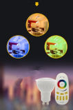GU10 van RGB LEIDENE van WiFi de Decoratie 4W RGBW WiFi Kerstmis van de Schijnwerper en het LEIDENE van de Afstandsbediening Licht van de Vlek