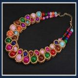 Nuevo conjunto de la joyería del collar de la manera de los granos de cristal del item