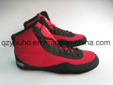Blue Red Custom Design Wrestling Boot PU Wrestling Men's Shoes
