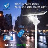 Indicatore luminoso di via alimentato solare più popolare 2016 50W