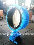 Roheisen/duktiles Eisen flanschten Drosselventil mit Getriebe bedienen