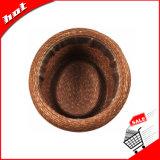 착색된 밀 밀짚 모자 중절모 모자