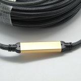 cabo de 50m HDMI com sustentação 3D 4k*2k 2.0V da microplaqueta