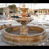 Fontana dorata del calcio per la decorazione Mf-1033 del giardino