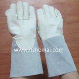 Guanto del lavoro di sicurezza dei guanti di saldatura di Lether della pelle bovina