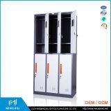 中国の製造者6のドアによって使用される鋼鉄収納キャビネット/金属のロッカー