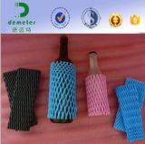 Förderung-hoher Grad PET Schaumgummi-Hülsen-Netz-Whisky-Wein-Glasflaschen-Schutz-Verpacken
