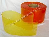 Jaune d'Anti-Insecte de rideaux en bande de PVC nervuré