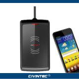 ISO15693 13.56MHz短距離RFID Hfのデスクトップの読取装置NFCのカード読取り装置の音声ジャック