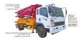Carro concreto de la bomba del auge con alto rendimiento y el soporte After-Sales excelente