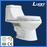 Туалет Wc керамический Siphonic цельный с Saso/Ce