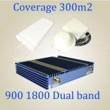 De mobiele GSM van de Band 900/1800MHz van de Telefoon Dubbele Spanningsverhoger van het Signaal voor GSM WCDMA naar huis Gebruikte Repeater