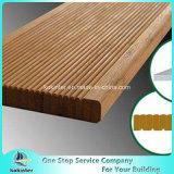Sitio de bambú pesado tejido hilo al aire libre de bambú 32 del chalet del suelo del Decking