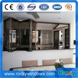 Окно и дверь дешевого цены алюминиевое складывая с штаркой