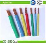 Fio isolado PVC Multi-Strand do cabo do único núcleo AWG14/AWG12 Thw