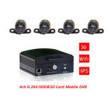 4 CH 3G Realtime Monitoring GPS H. 264 School Bus Vehicle Mobile DVR-Vcomsky