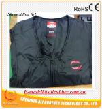 Veste aquecida do Li-Polímero do preto do XL (tamanho europeu) bateria esperta
