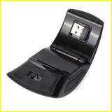 형식 까만 소형 휴대용 광학적인 USB 무선 마우스