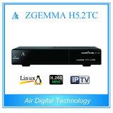 Mais novo receptor de satélite combinado Zgemma H5.2tc com DVB-S2 + 2 * DVB-T2 / C Três sintonizadores H. 265 Hevc Satellite Decoder