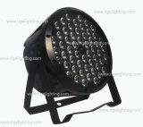 Preiswertes 54X1w RGBW flaches dünnes Licht des Stadiums-LED PAR64