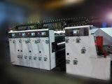 Die-cutting 기계를 인쇄하는 4개의 색깔 골판지