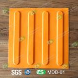 Gymnastik-Gummifußboden-Fliesen, Gummifliesen für blinde, Gummitastfliese