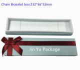 Белая коробка упаковки ожерелья хранения ювелирных изделий подарка бумаги картона