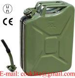 La benzina diesel Jerry può serbatoio di gas del metallo del contenitore del combustibile della benzina di stile di NATO