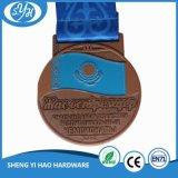 médaille molle d'émail du marathon 10k avec la lanière
