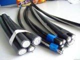 0.6/1kv linha aérea Twisted empacotada aérea cabo do cabo do PVC /XLPE
